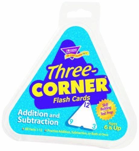 Subtraction Three Corner - Trend Enterprises Inc Three-Corner Flash Cards: Addition and Subtraction