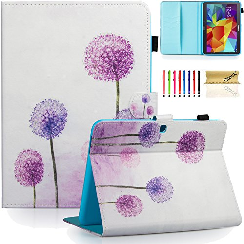 Galaxy Tab 4 10.1 Case,T530 Case,Dteck(TM) Slim Folio Stand Case with Cards Slots [Auto Wake/Sleep Feature] Magnetic Smart Shell Cover for Samsung Galaxy Tab 4 10.1 SM-T530NU T531 T535,Dandelion (Samsung Galaxy Tab 4 Case Art)