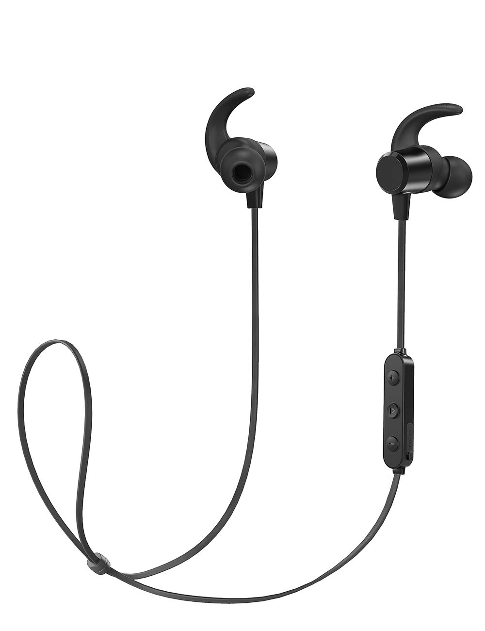 Wireless Bluetooth 5.0 Earphones [2019 Upgrade], BesDio Workout Headphones : aptX Stereo Magnetic Earbuds Snug Fit, for Sports, Gym, Jogging (CVC 6.0 Noise Cancelling Mic, IPX6, 20 Hours Play time)