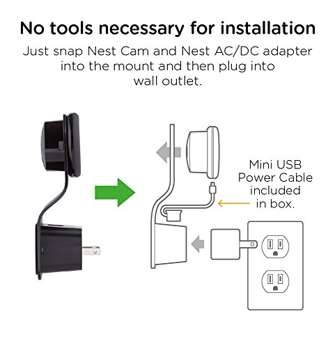 mission mounts mc14 ac outlet wall mount for nest cam