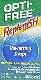 Opti-Free Replenish Rewetting Drops, 0.33 fl oz (10 ml) (Pack of 3)