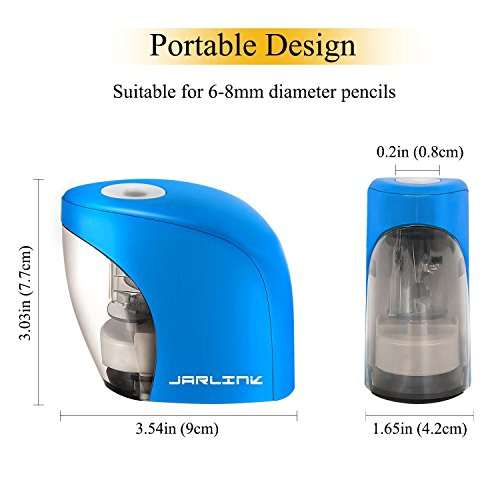 Electric Pencil Sharpener with Auto Feature, Durable and Portable Pencil Sharpener for School Classroom, Home, Office, Studio (Batteries Not Included) by PRINTEMPS (Image #1)
