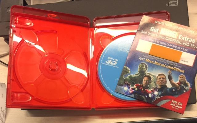 Marvel's Avengers: Age of Ultron(Plus Bonus Features) INCOMPLETE MOVIE PACKAGE