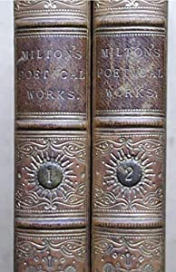 Hardcover Milton's poetical works. With the life, critical dissertation, and explanatory notes: 2 Vols Book