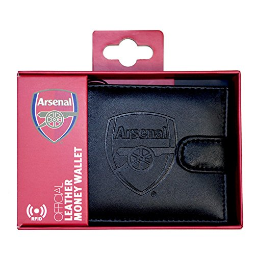 Arsenal FC RFID Embossed Leather Wallet (One Size) (Black)