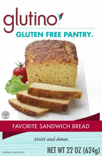 Glutino Gluten Free Flour - Glutino Gluten Free Pantry Favorite Sandwich Bread Mix, 22-Ounce Boxes (Pack of 6)