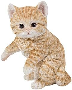 Hi-line regalo Ltd jugando naranja Tabby gato Estatua