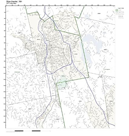 Amazon.com: ZIP Code Wall Map of Manchester, NH ZIP Code Map ... on mall of la map, mall of ga map, mall of new hampshire map, newington mall map, mall of florida map, mall of manhattan map, fox run mall map, mall of millenia store map,