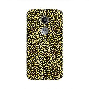 Cover It Up - Gold Black Pebbles Mosaic Moto X2 Hard Case