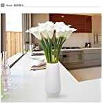 Supla-Real-Touch-Calla-Lily-Artificial-Silk-Flower-Bundle-Fake-Calla-Lily-in-White-with-Yellow-Stamens-20-Stems-Per-Bundle-13-Tall-x-9-Diameter