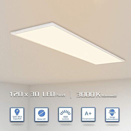 OUBO Lámpara LED empotrada de techo y plana ultra delgada y fácil ...