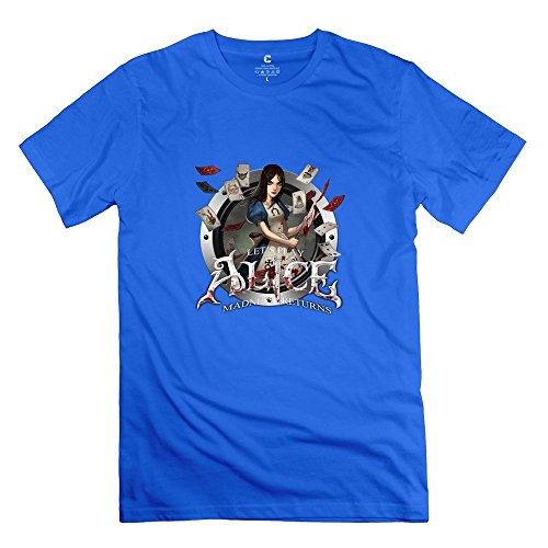 alice-madness-returns-icon-cute-100-cotton-royalblue-t-shirt-for-guys-size-xl
