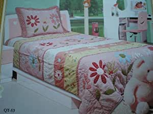 Twin Pink Butterfly Super Soft Pink Plush / Micro Fiber Reverse Blanket Bedspread Coverlet