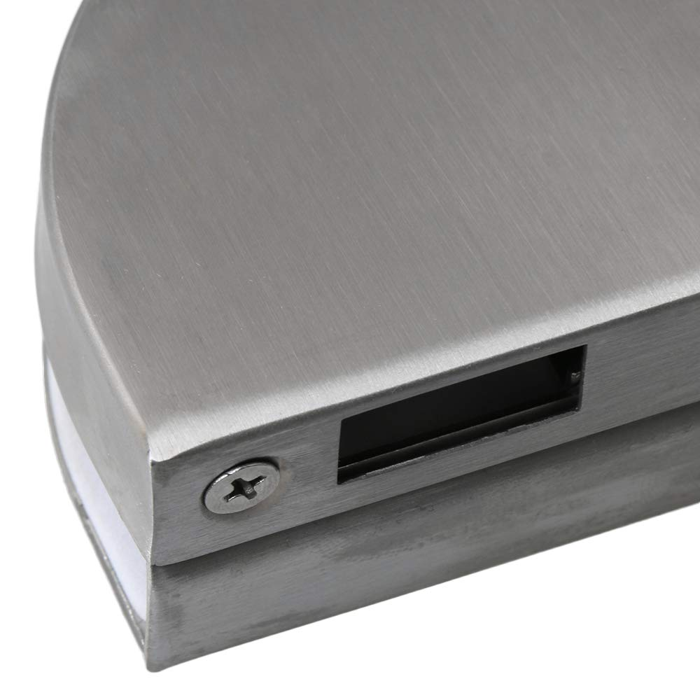 BQLZR Cerradura de seguridad antirrobo para puerta de cristal con 3 llaves para puerta corredera de 10-12 mm de grosor color plateado