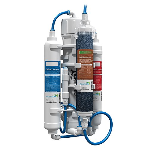 Aquatic Life RO Buddie Four Stage Reverse Osmosis System with Color Changing Mixed Bed Deionization Cartridge