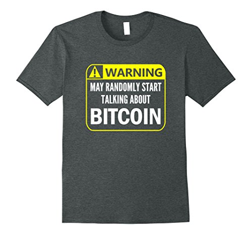Mens Warning Sign Bitcoin Shirt Funny Blockchain Alt Crypto Gift Xl Dark Heather