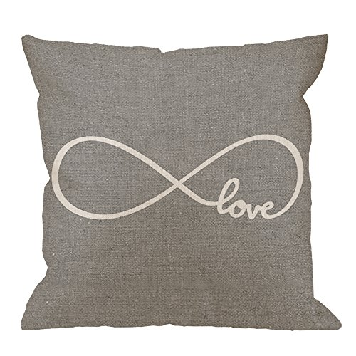 HGOD DESIGNS Throw Pillow Case Rustic Gray Love