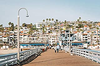 product image for The Pier in San Clemente, Orange County, California A-9008659 (16x24 Giclee Gallery Print, Wall Decor Travel Poster)