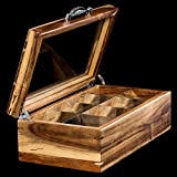 Mijenko Wood Tea bag Box Organizer