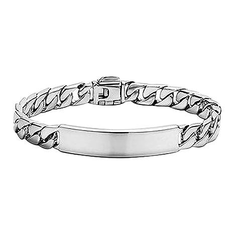 09b86eae7115 Pulsera de Plata para Hombre o Mujer de la Joyería Accesorios y Esclava para
