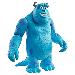 ​Pixar Sulley Figure True to Movie Scale Character Action Doll Highly Posable with Authentic Costumes for Storytelling, Collecting, Monsters, Inc. Toys for Kids Gift Ages 3 and Up