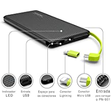Carregador Portátil Power Bank Usb Pineng Kaidi 10000 Mah Pn 951