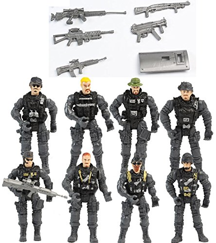 Gansup 8pcs lot A Set Gi Joe Military Soldiers Army Action Figure Toy Doll And (Aircraft Carrier Halloween Costume)
