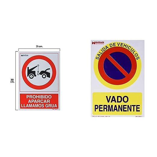 Wolfpack 15050560 Cartel Prohibido Aparcar Llamamos Grúa, 30 ...