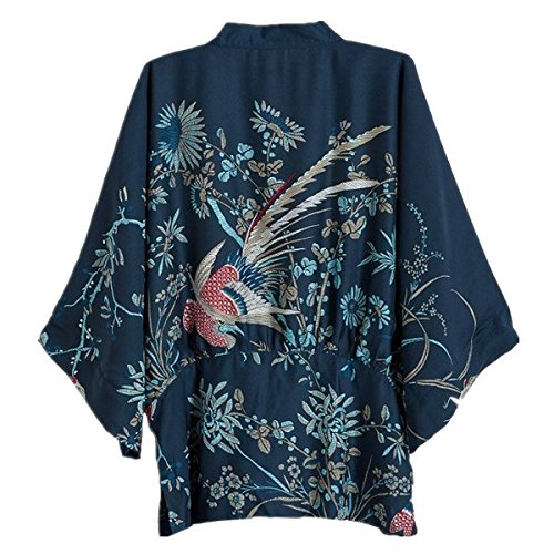 Japanese Style Women kimono Casual Women Blouse Coat (L) by Ihomeu (Image #1)
