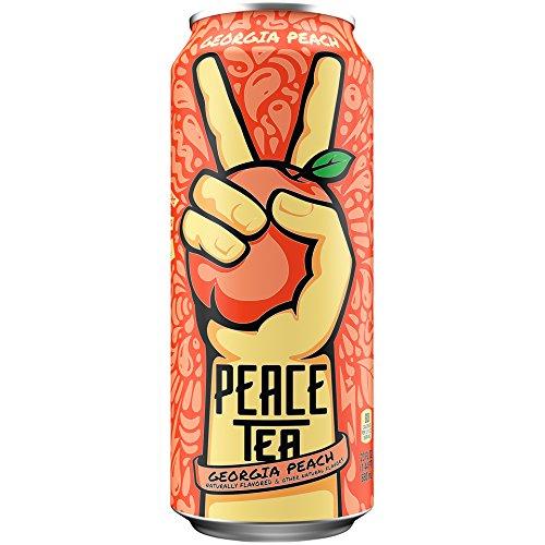 Peace Tea Georgia Peach Sweet Tea Drinks, 23 fl oz, 12 Pack