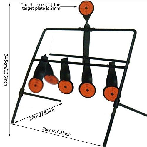 JUFENG .22 Rimfire Resetting Target, Outdoors Air Strike Pellet Shooting Target 5 Targets by JUFENG (Image #1)