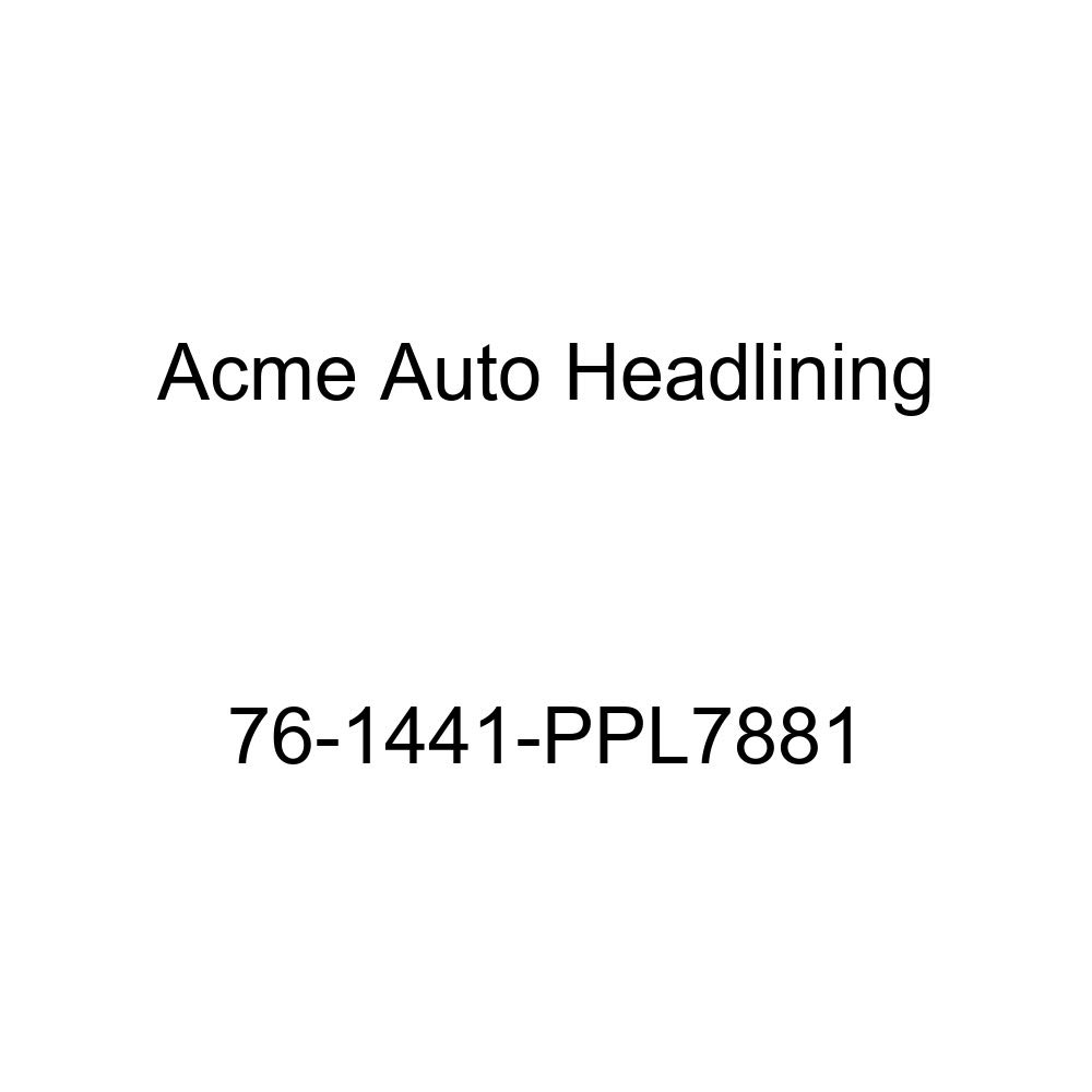 5 Bow Acme Auto Headlining 76-1441-PPL7881 Carmine Replacement Headliner 1976 Chevrolet Laguna and Malibu 2 Door Hardtop