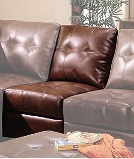 Coaster Samuel Contemporary Dark Brown/Cappuccino Sectional Armless Chair