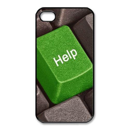 Goma duradera casos iPhone 4,4S celular negro chalana teclado verde gris Vharg protector: Amazon.es: Electrónica