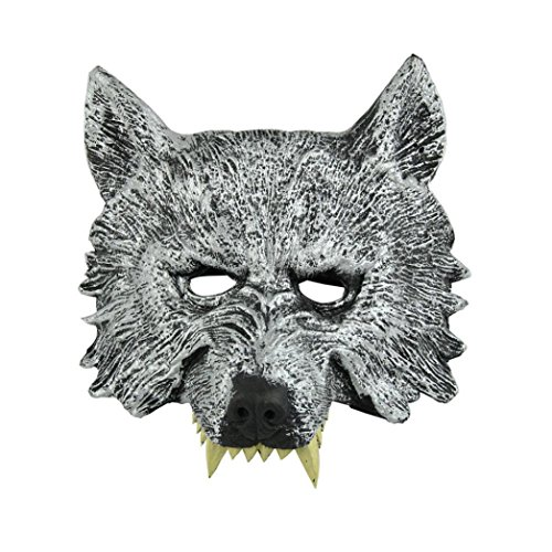 SMTSMT Creepy Wolf Latex Head Mask (Wolf Masks For Adults)