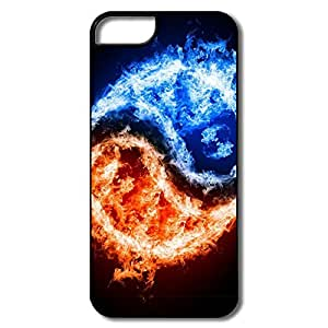 Fashion Yin Yang Fire Water Plastic Case For IPhone 5/5s