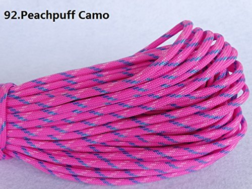 100ft 550 Paracord Parachute Cord Lanyard Mil Spec Type III 7 Strand Core (Color 92)