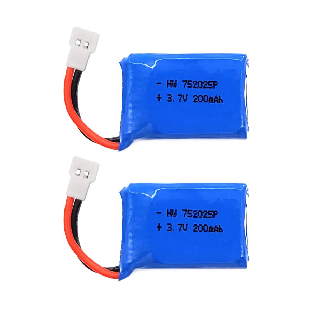 Gecoty® 2 Piezas 3.7 V 200 mAh 20 C Lipo batería de Repuesto para ...