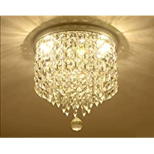 Moooni Drum Modern Crystal Chandelier Lighting Raindrop Ceiling Pendant Lamp