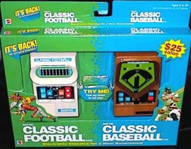 Mattel Electronic Football - Mattel Classic Football and Mattel Classic Baseball 2 Pack