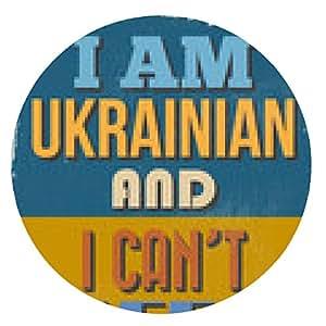 alfombrilla de ratón Póster. Soy de Ucrania y no puedo mantener la calma. illustrati del vector - ronda - 20cm