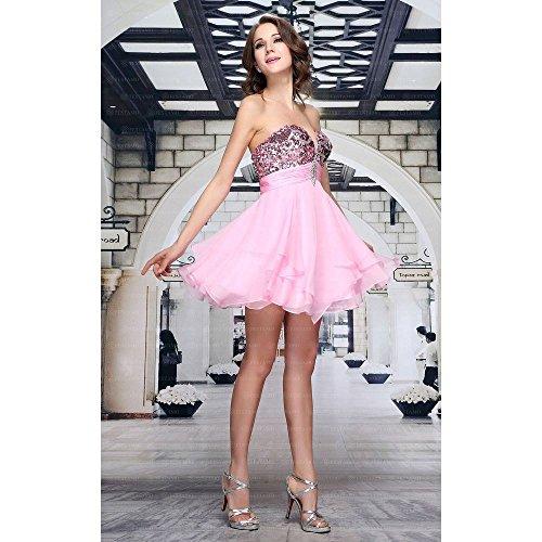 Cocktail Für Rosa Damen bei Ital Kleid Festamo Design Mini 1axtwqTd6