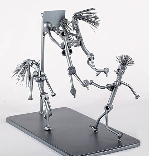 (Basketball Team - MetalDiorama Metal Art Sculpture)