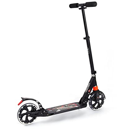 Patinete plegable, scooter de adultos y niños de la ciudad, con doble suspensión delantera y trasera, con ruedas grandes de 200 mm, altura ajustable ...