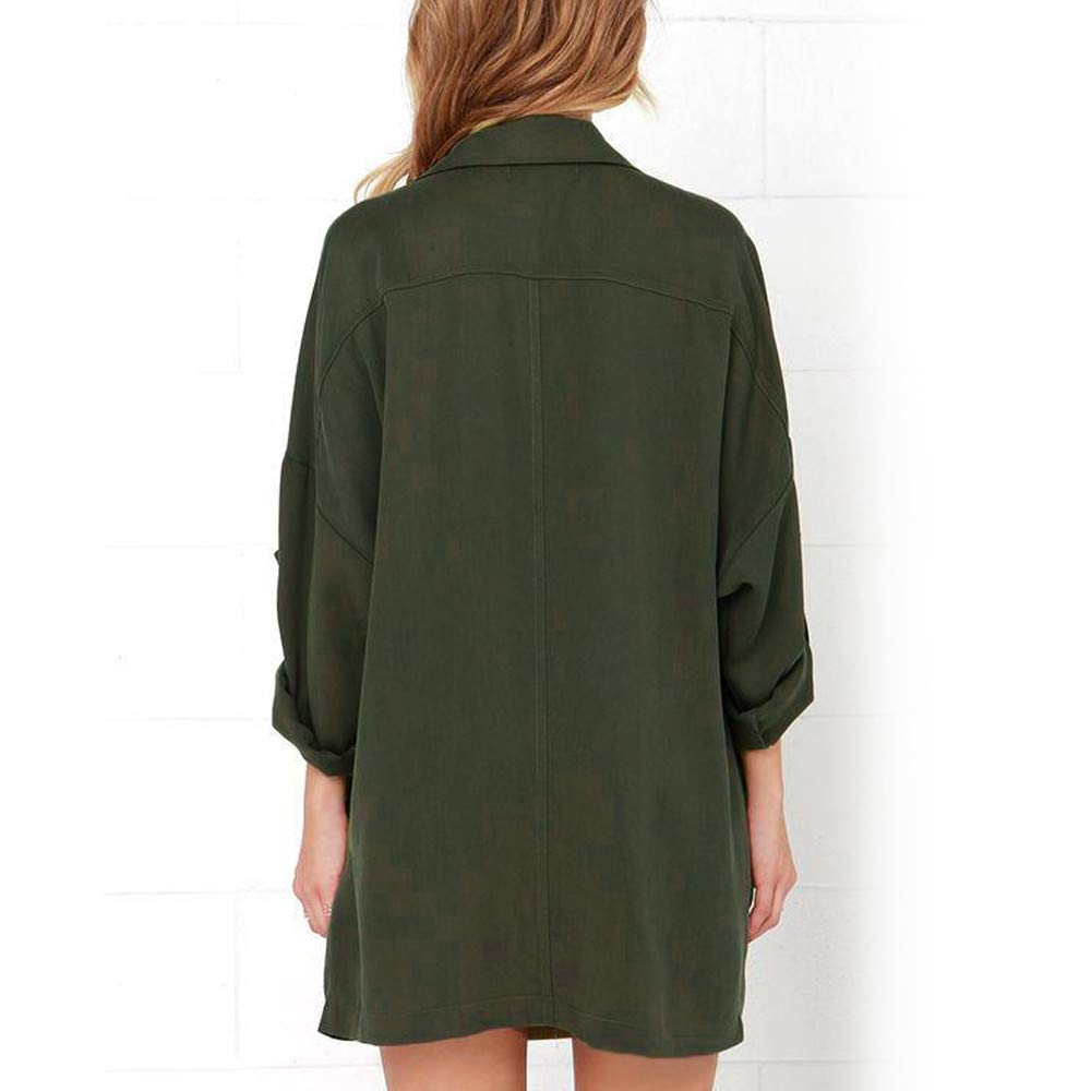 TOOPOOT Women's Cardigan,Ladies Open Front Long Sleeve Waterfall Collar Irregular Trench Coat by TOOPOOT-Coat (Image #4)