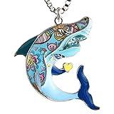 Luckeyui Unique Shark Necklaces & Pendants for Women Men Sea Life Animal Gift Charm Jewelry