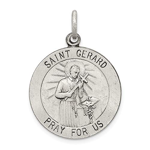 925 Sterling Silver Saint Gerard Medal Pendant Charm Necklace Religious Patron St Fine Jewelry Gifts For Women For Her ()