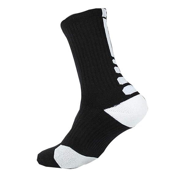 Litthing Calcetines deportivos antideslizantes de algodón para hombre Desodorante respirables para baloncesto fútbol Yoga de balonmano Correr engrosamiento ...