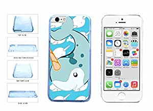 Cute Cartoon Whale Clear Plastic Phone Case Back Cover Apple iPhone 6 Plus (5.5 inches screen) includes BleuReign(TM) Cloth and Warranty Label