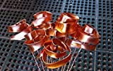 Set of 3 Bright Copper Forever Roses #813'' I Love You'' Steampunk - Wedding Prom Graduation 7th Anniversary Regalo de Aniversario Hanukkah Kwanzaa Valentine's Mother's Day Christmas Gift !